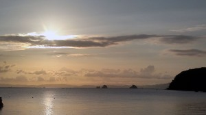 瀬戸内海の日の出(8月27日6時頃)