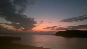 瀬戸内海の日の出(9月29日5時半頃)