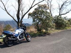 大坂峠展望台から見える徳島方面