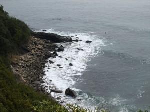 鳴門海峡の海岸線