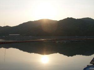 引田の夕日