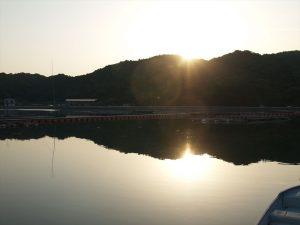 安戸池の夕陽